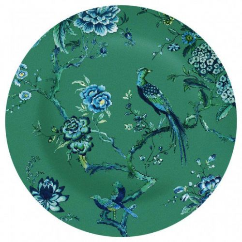 Jasper Conran Chinoiserie Green Platter / Charger Plate 34cm